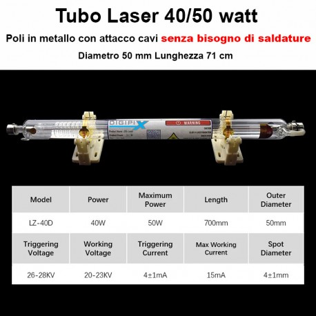 Tubo Laser per K40
